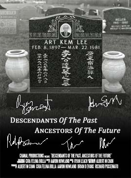 Descendants of the Past, Ancestors of the Future Signed Poster